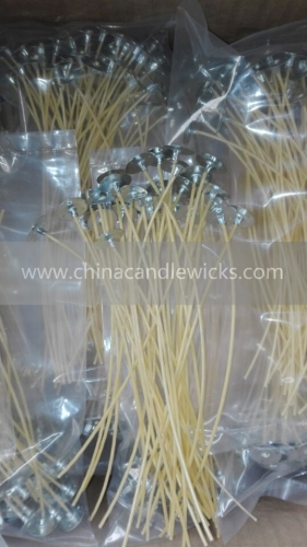 6'yellow High Quality Hemp Candle Wick With Natural Beeswax Coating 100pcs/bag