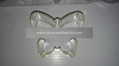 Butterfly shape clear plastic tealight candle cup holder container (10pieces/bag)