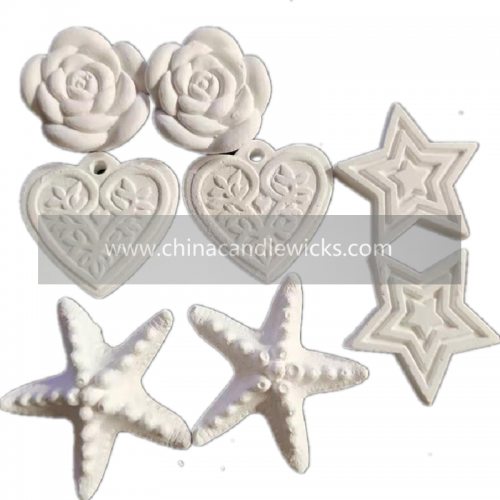 natural material hand crafts scented plaster perfume stone for air freshener (Five-pointed star 4pieces)